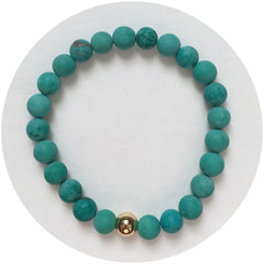 Mens Matte Green Turquoise with Gold Accent - Oriana Lamarca LLC