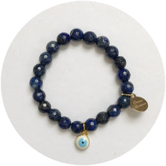 Mini Lapis with Evil Eye Pendant *For NewBorns*