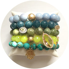 Green Garnet Armparty #1 - Oriana Lamarca LLC