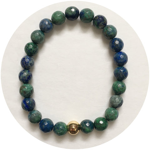 Mens Azurite with Gold Accent