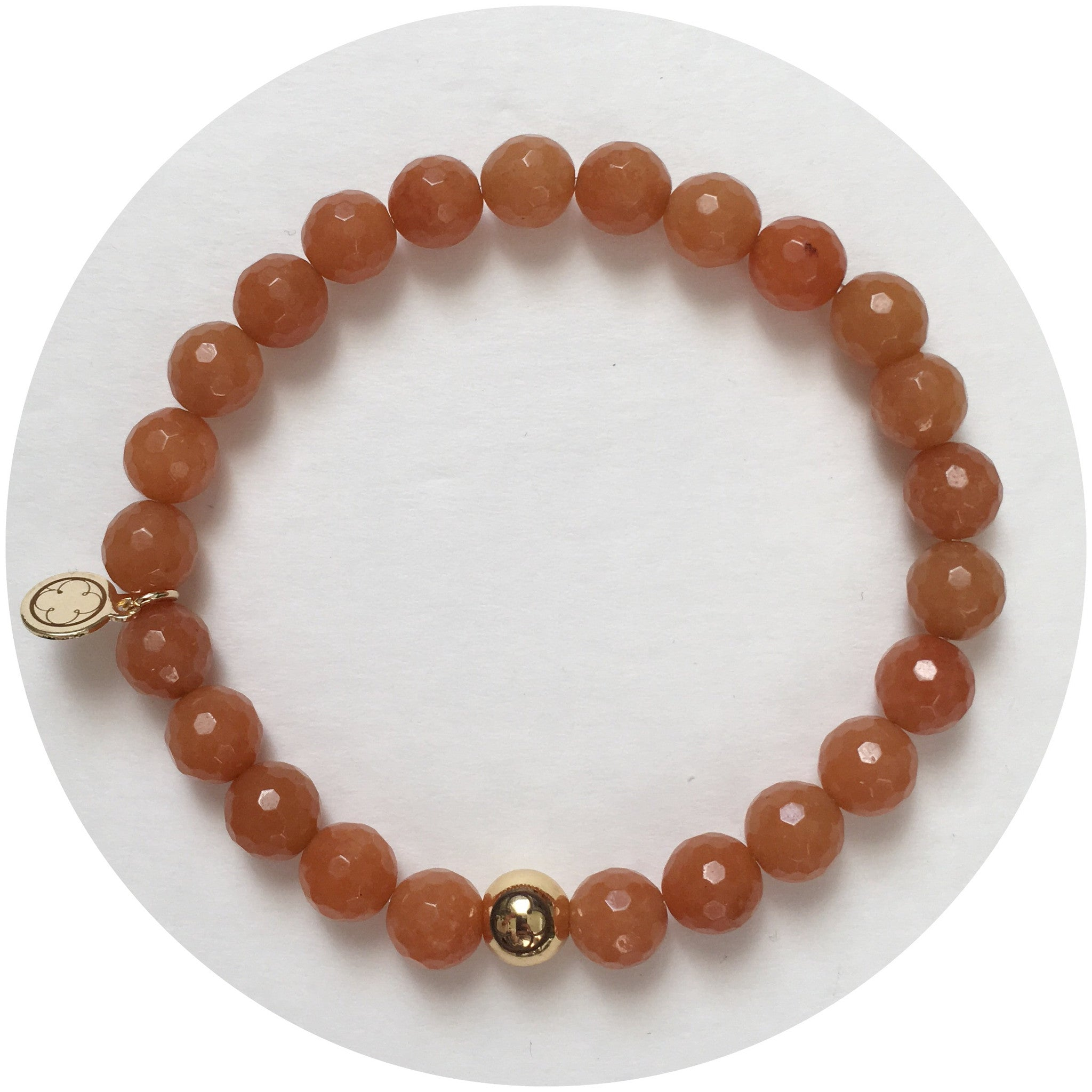 Mens Brown Aventurine with Gold Accent - Oriana Lamarca LLC