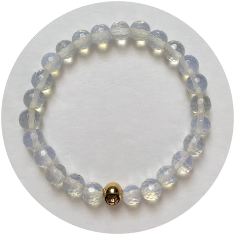 Mens Opalite with Gold Accent