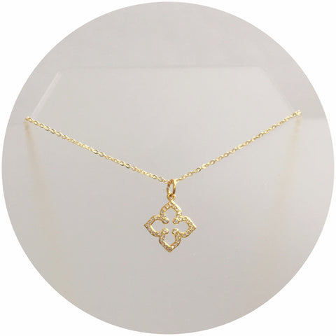 Pavé Clover Necklace