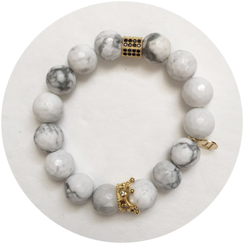 Nate B. White Howlite Pavè Royalty Crown