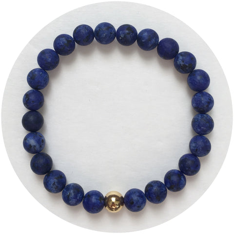 Mens Matte Lapis with Gold Accent