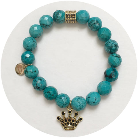 Nate B.  Green Turquoise Royal Highness Crown