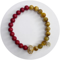 Mens San Francisco 49ers with Gold Pavé Helmet - Oriana Lamarca LLC