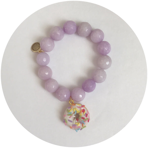 "Children's ""Donut Mess with Me"" Lavender Jade"