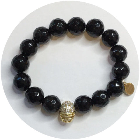 Black Onyx with Pavé Gold Helmet