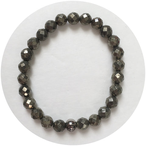 Mens Pyrite with Silver Accent