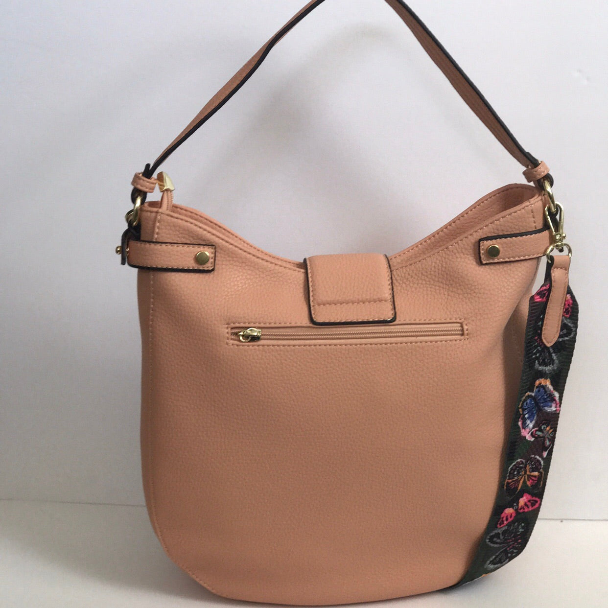 Rose Midtown Butterfly Bucket Bag - Oriana Lamarca LLC
