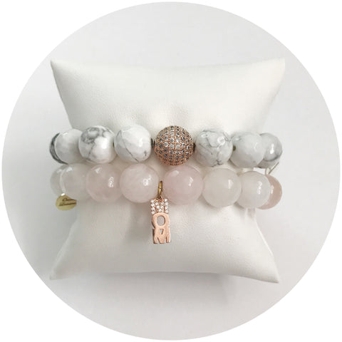 Mother's Day Pavé Rose Quartz Arm Party