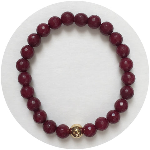 Mens Marsala Jade with Gold Accent