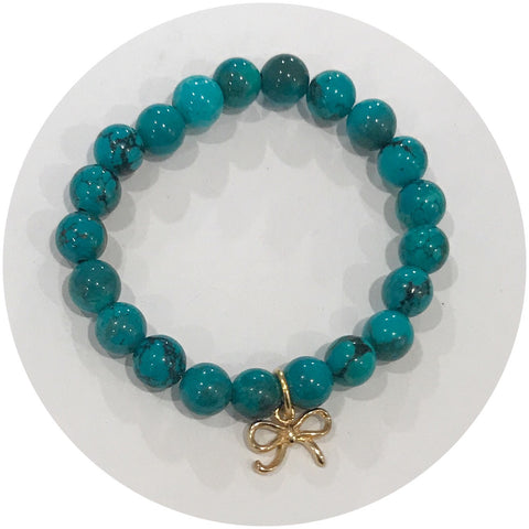 Mini Green Turquoise with Gold Bow *For NewBorns*