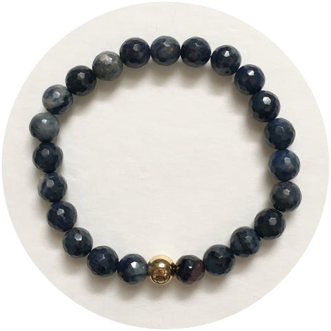 Mens Neptune Jasper with Gold Accent