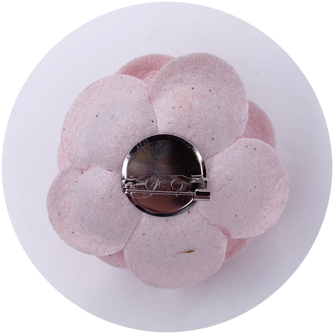 Pink Leather Brooch