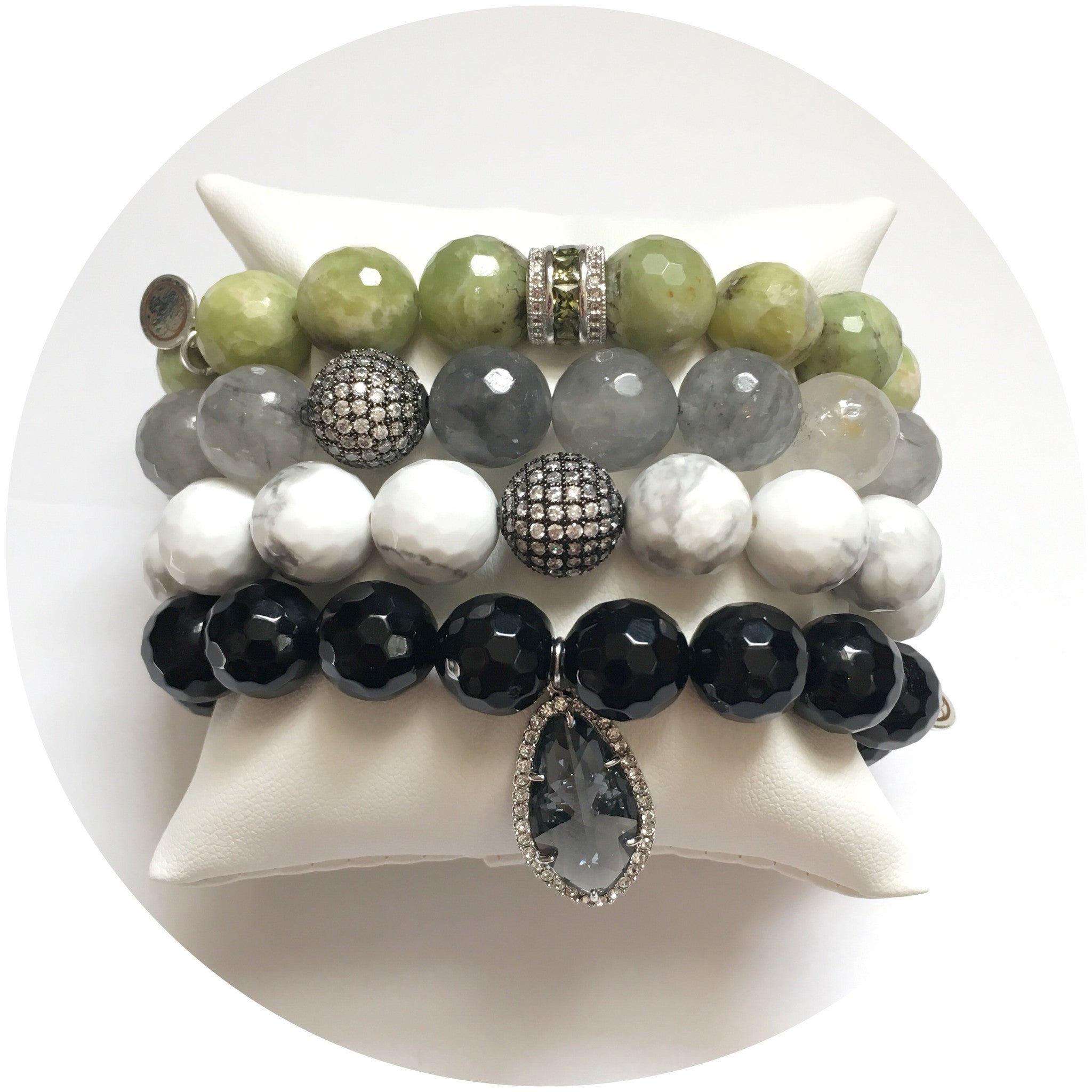 Green Garnet Arm party #4 - Oriana Lamarca LLC