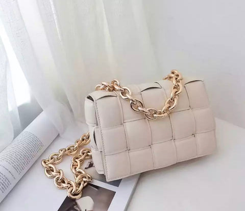 Quinn Cream Quilted Bag