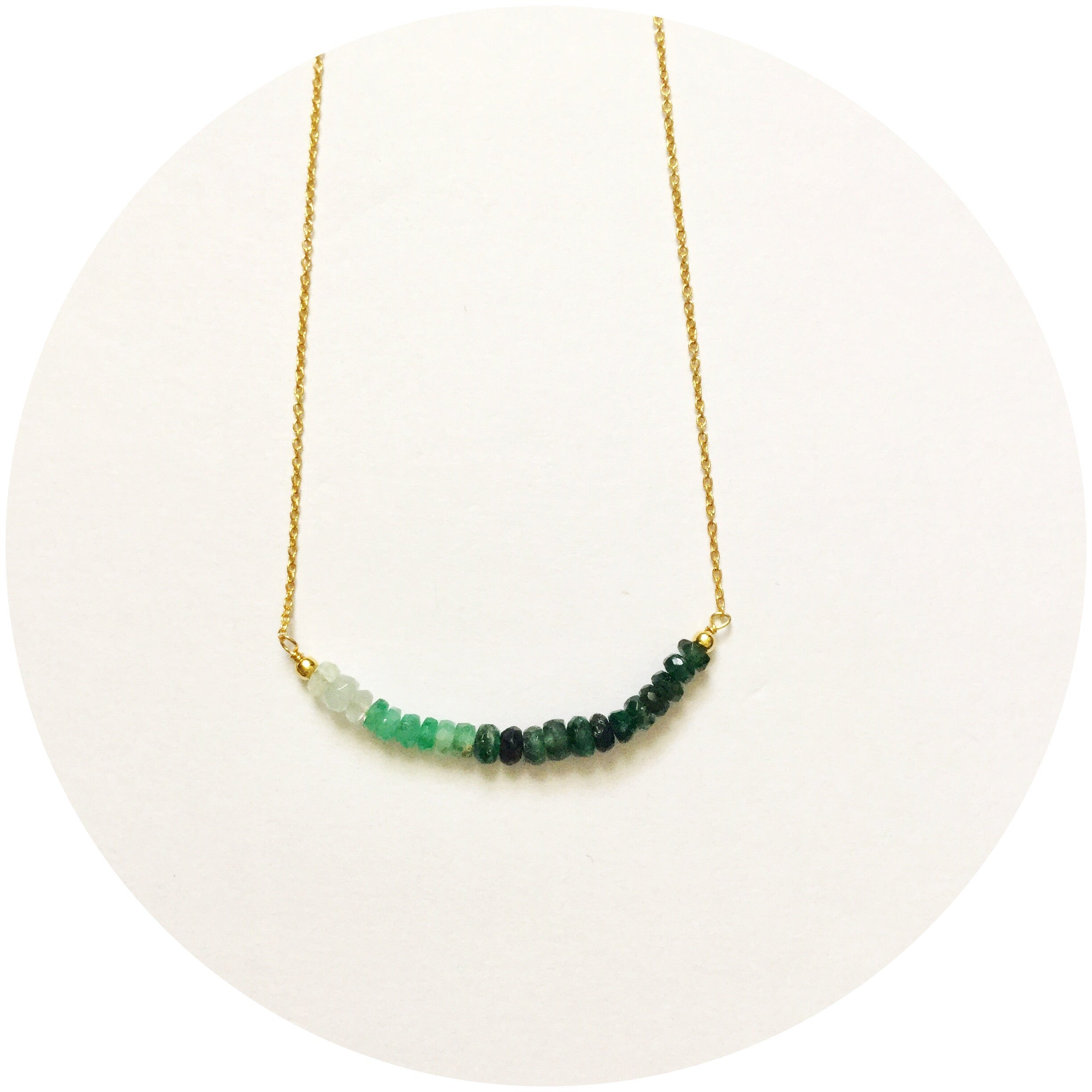 Rock Candy Green Garnet Necklace - Oriana Lamarca LLC