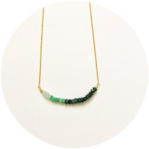 Rock Candy Green Garnet Necklace