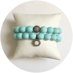 Light Turquoise Magnesite Color Stax