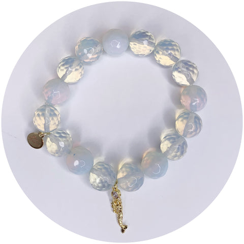 Opalite with Pavé Mermaid Pendant