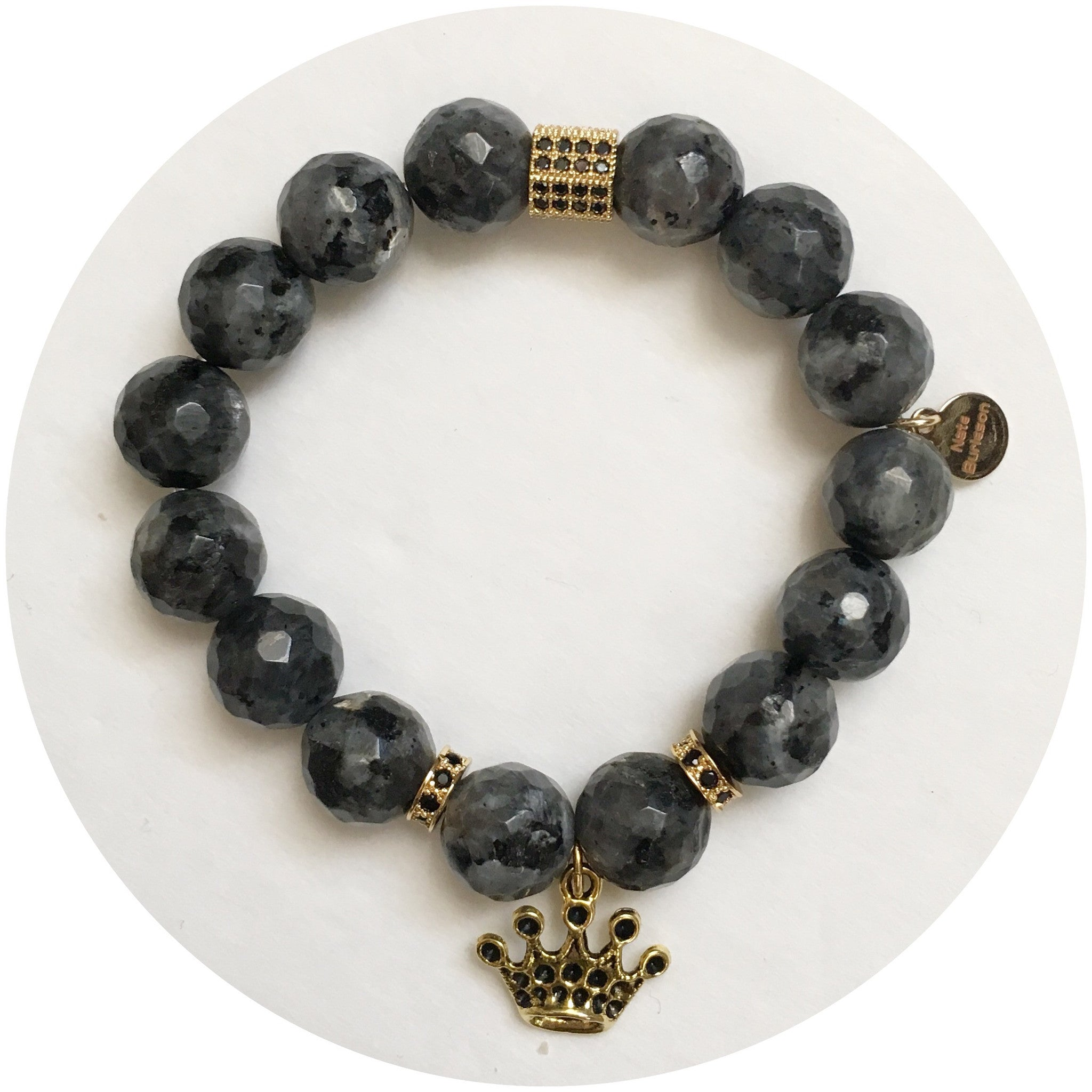 Nate B. Labradorite Royal Highness Crown - Oriana Lamarca LLC