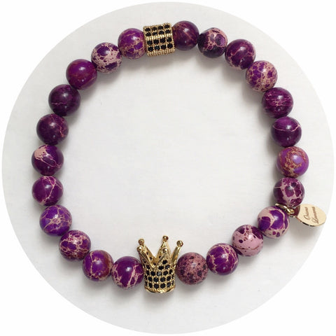 Nate B. Mens Purple Imperial Jasper with Pavè  Royalty Crown