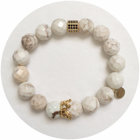 Nate B. White Magnesite with Pavè Royalty Crown
