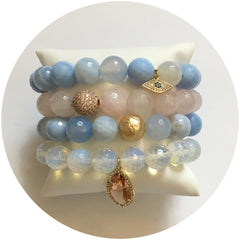 Serenity and Rose Quartz Armparty