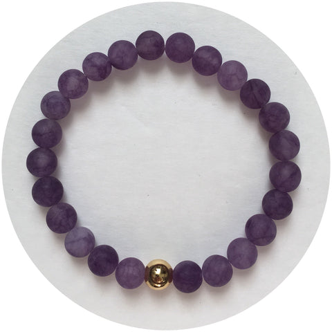 Mens Matte Amethyst with Gold Accent