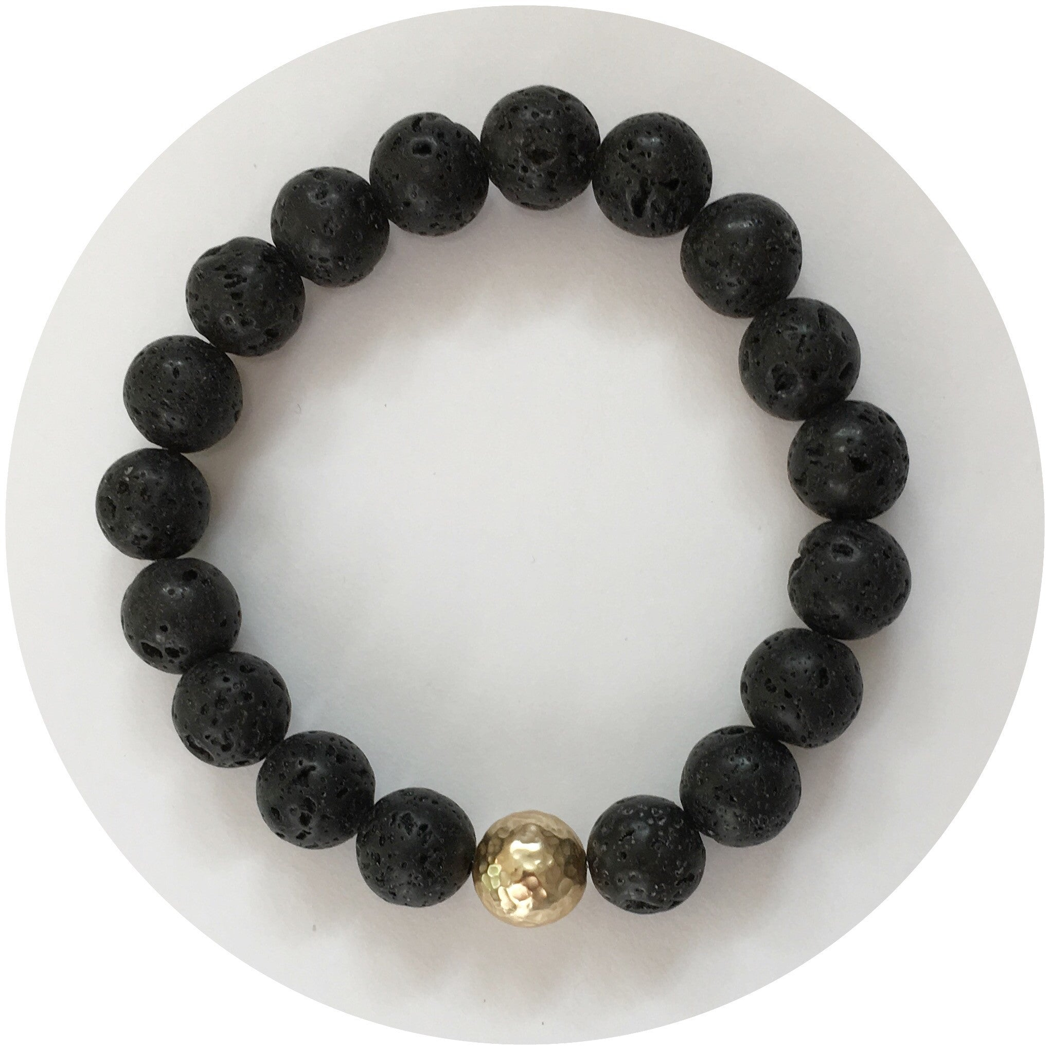 Black Lava with Hammered Gold Accent