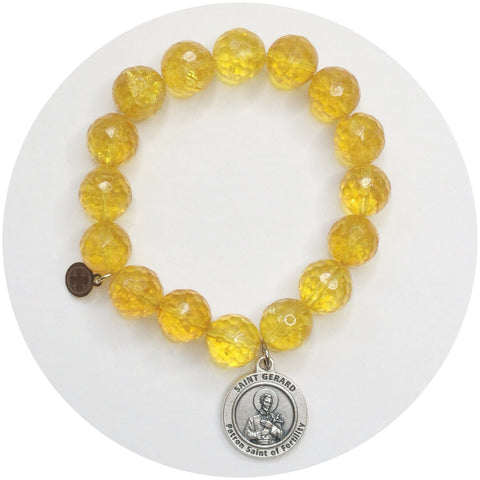 Citrine with St. Gerard Pendant