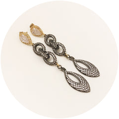 Ramona Triple Link Pavé Drop Earring