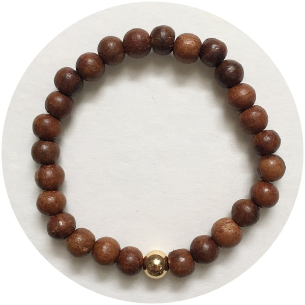 Mens Ebony Wood with Gold Accent
