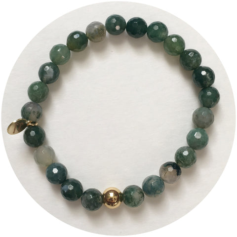 Mens Moss Green with Gold Accent