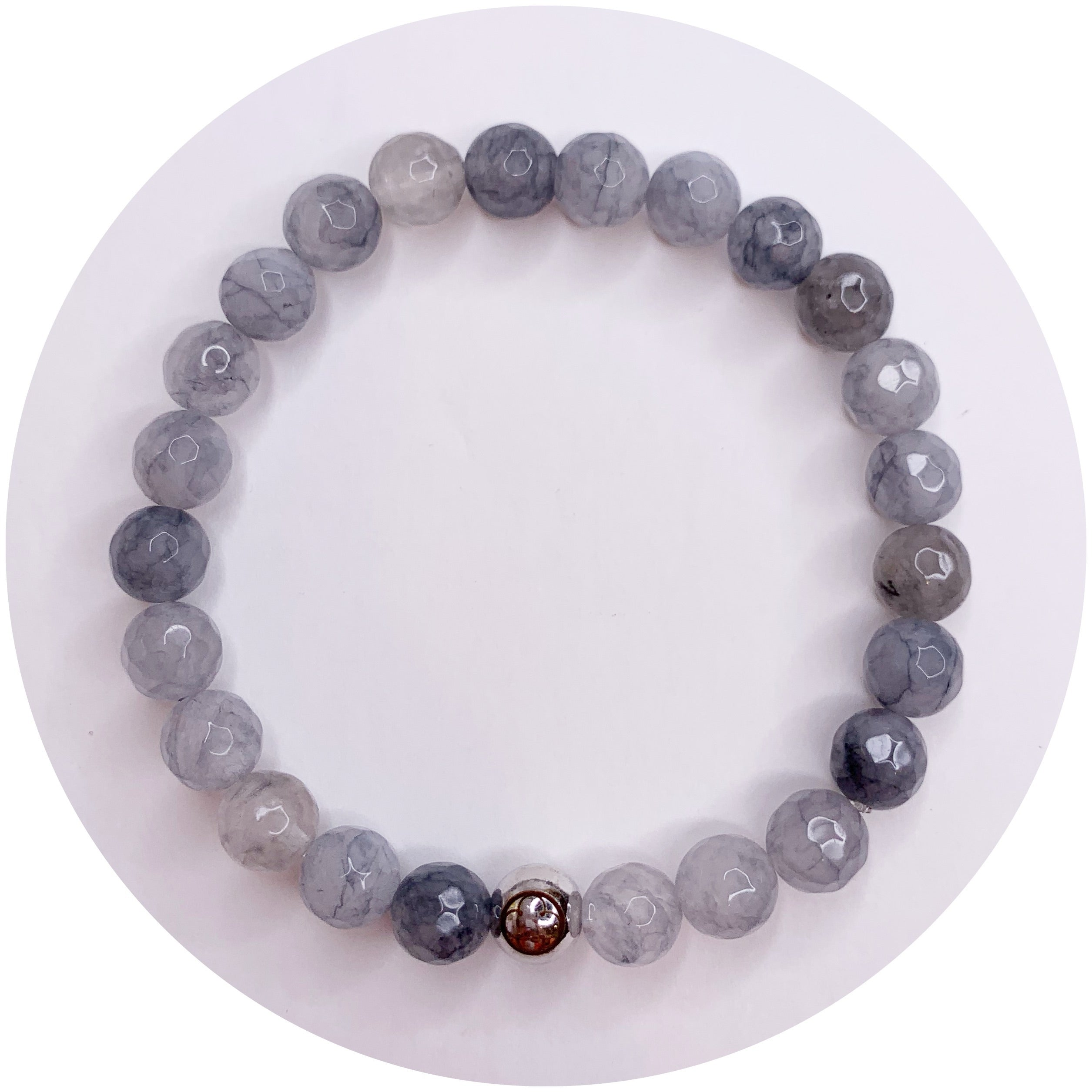 Mens Grey Quartz with Silver Accent - Oriana Lamarca LLC