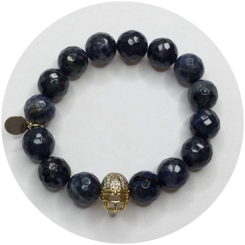 Neptune Jasper with Pavé Gold Helmet