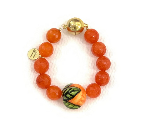 Orange Jade Napkin Ring