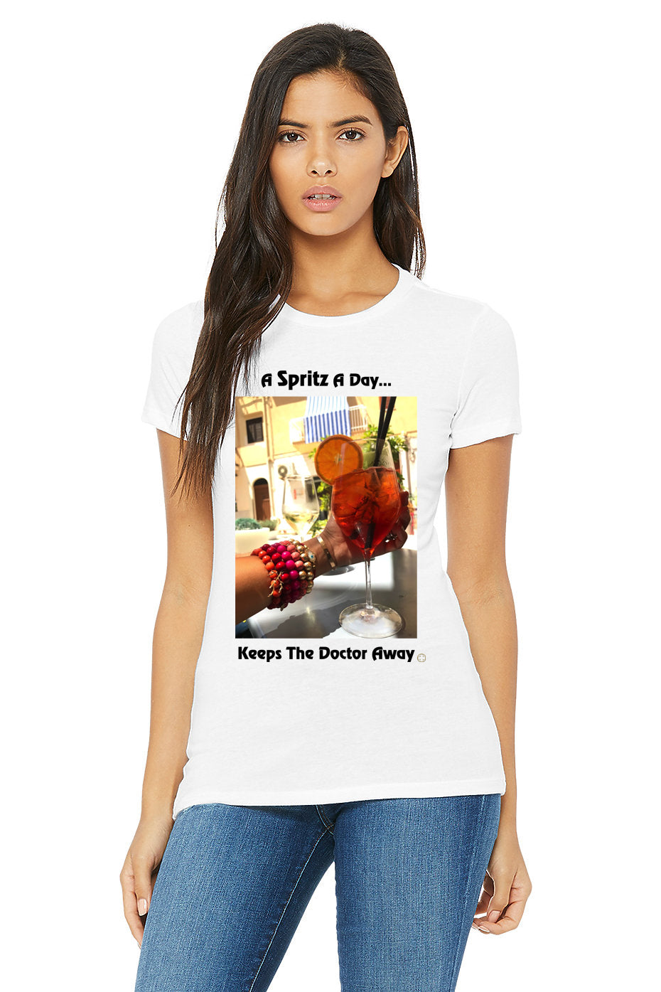 """A Spritz A Day, Keeps The Doctor Away"" T-Shirt - Oriana Lamarca LLC"