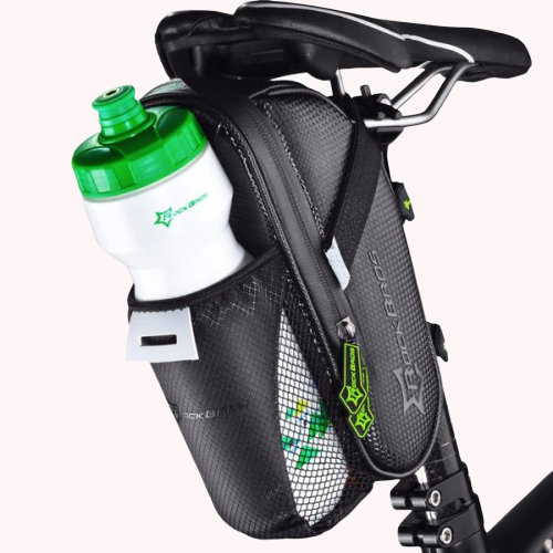 Bicycle Saddle Bag With Water Bottle Pocket
