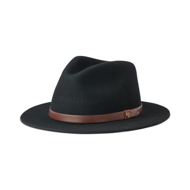 1-10763 BLK-Black-Hat-Messer-fedora-Brixton-Live-clothing