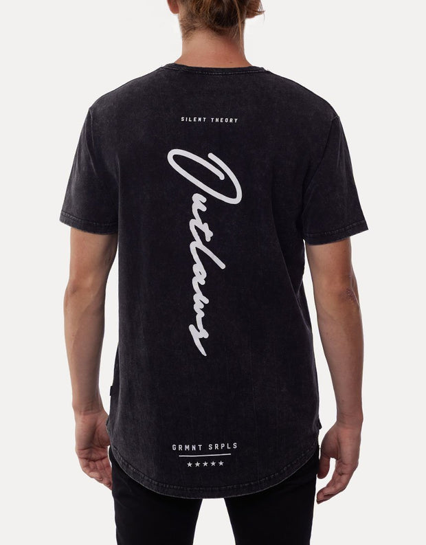 1-4074016.WBLK-Washed-black-Tee-Outlaw-script-Silent-Theory-Live-clothing