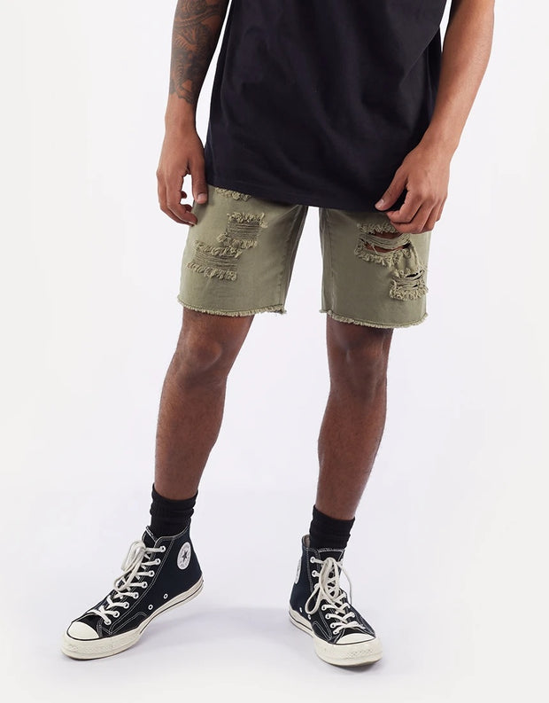 1-4090258.KHAK-Khaki-Short-Ramble-ripped-Silent-theory-Live-clothing