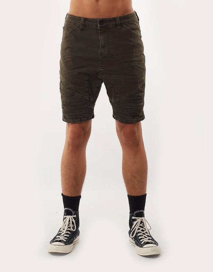 1-4090402.KHAK-Khaki-Short-Outlaw-trashed-Silent-theory-Live-clothing
