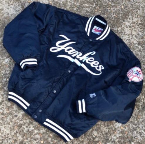 1-MJNY0018-Navy-Jacket-Ny-yankees-traditional-wordmark-Majestic-Live-clothing