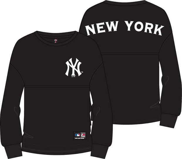 1-MNY6700DB-Standar-black-Tee-New-york-randon-oversized-Majestic-Live-clothing