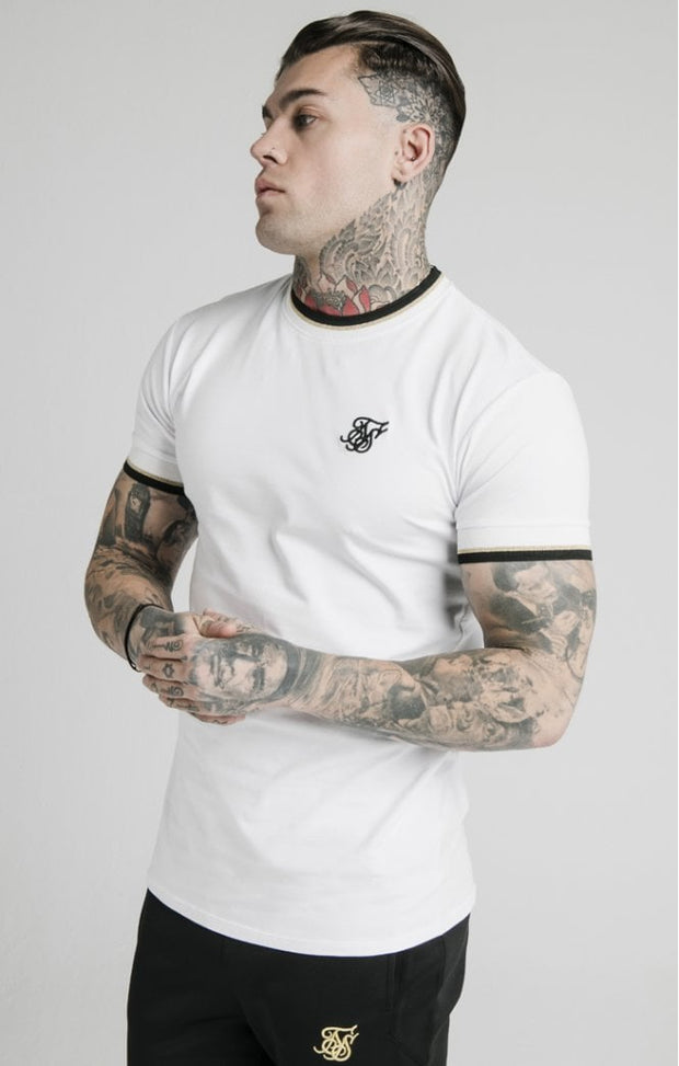 1-SS-17027-White-Tee-Ss-delux-straight-hem-Siksilk-Live-clothing
