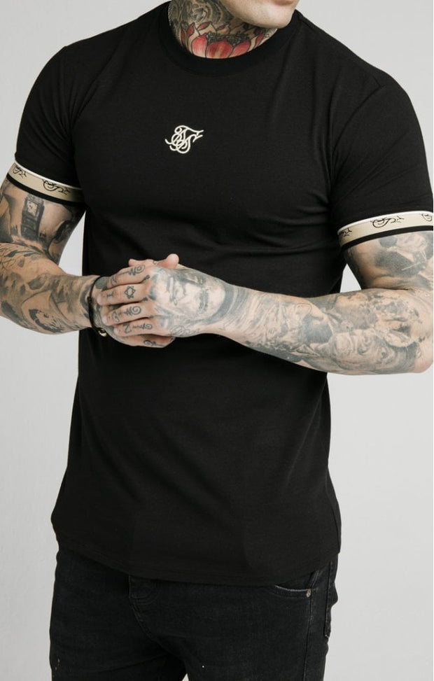 1-SS-17852-Black-Tee-Premium-tape-gym-Siksilk-Live-clothing