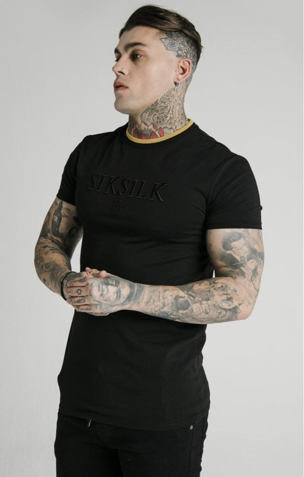 1-SS-17975-Black-Tee-Straight-hem-gym-Siksilk-Live-clothing